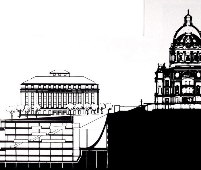 Section showing Underground Addition and Capitol Building