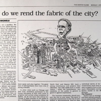 Why do we rend the fabric of the city?