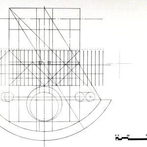Minnesota Capitol Competition, St. Paul, MN Organizing Geometry (Ink on Paper)