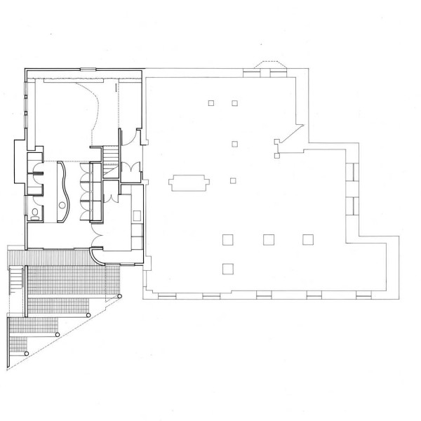 Ground floor of new addition and the existing basement
