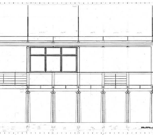 Courtyard Façade construction drawing