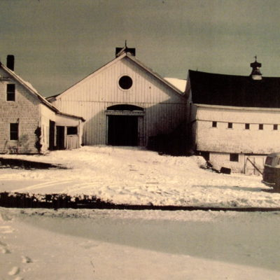 View of the original barn complex