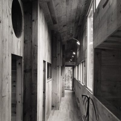 View looking down corridor wing