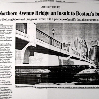 New Northern Avenue Bridge and Insult to Boston's Beauties