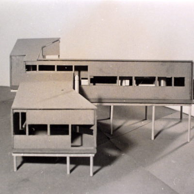 Study model and west facing facades