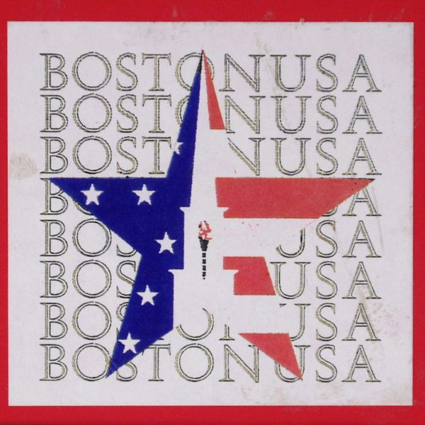 Boston Organizing Committee Logo, Boston, MA Webb Symbol of the Boston Organizing Committee Olympic Bid [W. Nichols w/ E. Duffy & W. Gerstmeyer] (Layout ink on paper with ink infill)